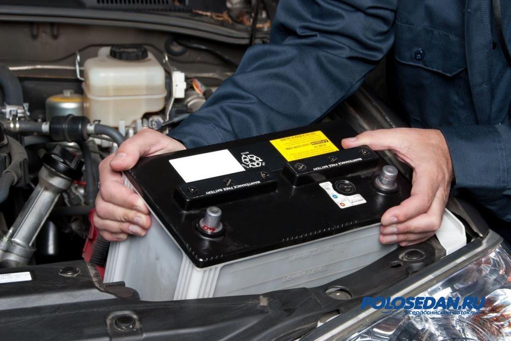 фольксваген поло седан аккумулятор 2012 года